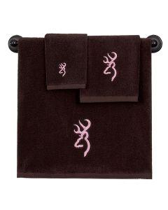 Kimlor Bath Towel - Browning Buckmark Brn/Pnk