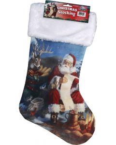 River's Edge Christmas Stocking-Santa Checking List