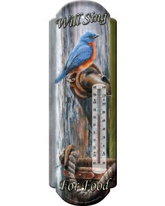 River's Edge Nostalgic Tin Thermometer-Will Sing