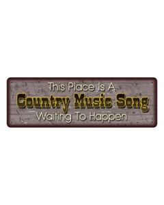 Rivers Edge Country Music Tin Sign