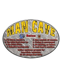 Rivers Edge Man Cave Rules Sign