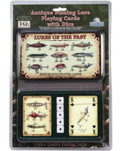River's Edge Antique Fishing Lure Cards with Dice