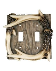 Rivers Edge Double Switch Cover- Antlers