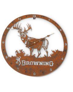 Browning Metal Wall Clock
