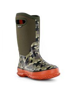 71397-352 BOGS Boy's Classic Camo Boots Olive Multi