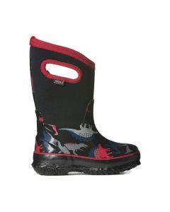Bogs Kid's Classic Dino Boots-Black Multi