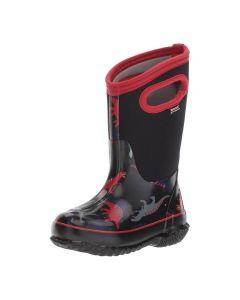 72151-009 BOGS Boy's Classic Dino Boots Black Multi