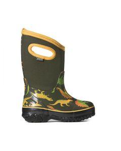 72151-356 BOGS Boys' Classic Dino Boots Moss Multi