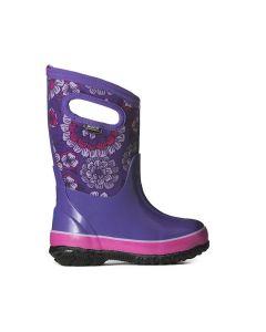 Bogs Kid's Classic Pansies Boots-Purple Multi