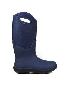 Bogs Women's Neo Classic Tall Ln-Drk Blue Mlt