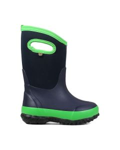 Bogs Kid's Classic Matte Boot-Navy/Green