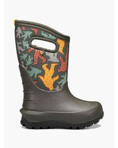 72580-348 BOGS Boy's Neo-Classic Bigfoot Boots Dark Green Multi