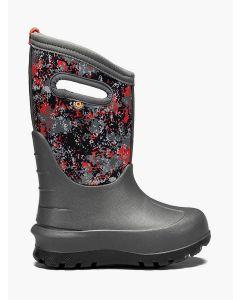 72581-074 BOGS Boy's Neo-Classic Micro Camo Boots Dark Gray Multi