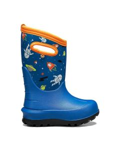 72582-460 BOGS Boy's Neo-Classic Spaceman Boots Blue Multi