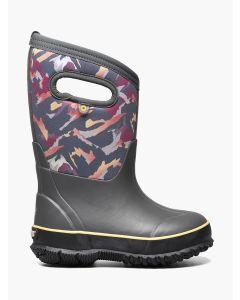 72732-074 BOGS Boy's Classic Winter Mountain Boots Dark Gray Multi
