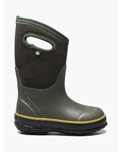 72733-301 BOGS Boy's Classic Tonal Camo Boots Dark Green