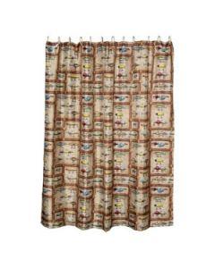 Rivers Edge Antique Lure Shower Curtain