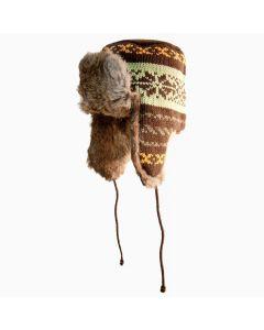 Yukon Tracks Fur Hat- BROWN KNIT-XL