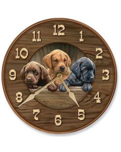 Wild Wings Nature Clock-All Hands on Deck Lab Pup