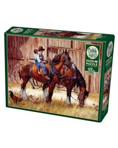 Cobble Hill Puzzle Co-1000-Back to the Barn