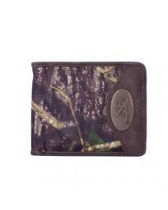 Browning Bi-Fold Wallet with Leather Trim and Camo - BGT1039