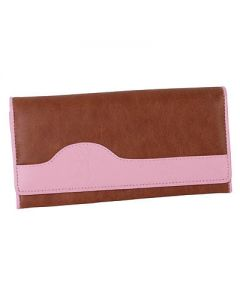 Browning Women's Pink/Brown Buckmark Leather Clutch Wallet - BGT1093