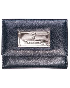 Browning Women's Black Leather French Wallet - BGT1187
