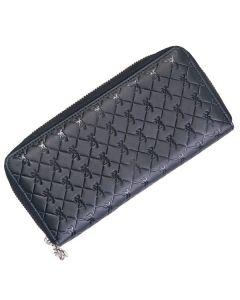 Browning Buckmark Leather Zip Around Wallet