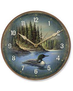 Wild Wings Nature Clock-Northern Retreat Loon