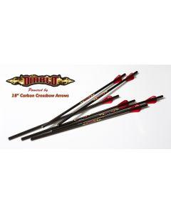 """Excalibur Diablo 18"""" Carbon Arrows 6pk"""