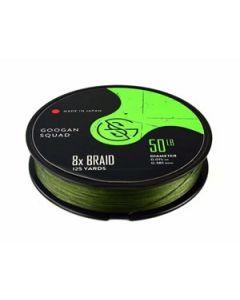 Googan Squad Braided Line  /125 yd - Moss Green