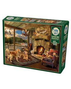 Cobble Hill Puzzle Co-1000-Lakeside Cabin