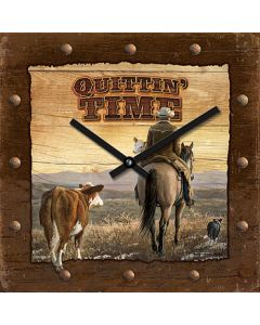 Wild Wings Nature Clock 10x10-Quittin' Time