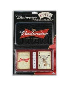 River's Edge Budweiser Playing Cards with Tin